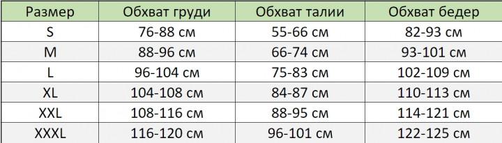 таблица пеньюар шторка застежка