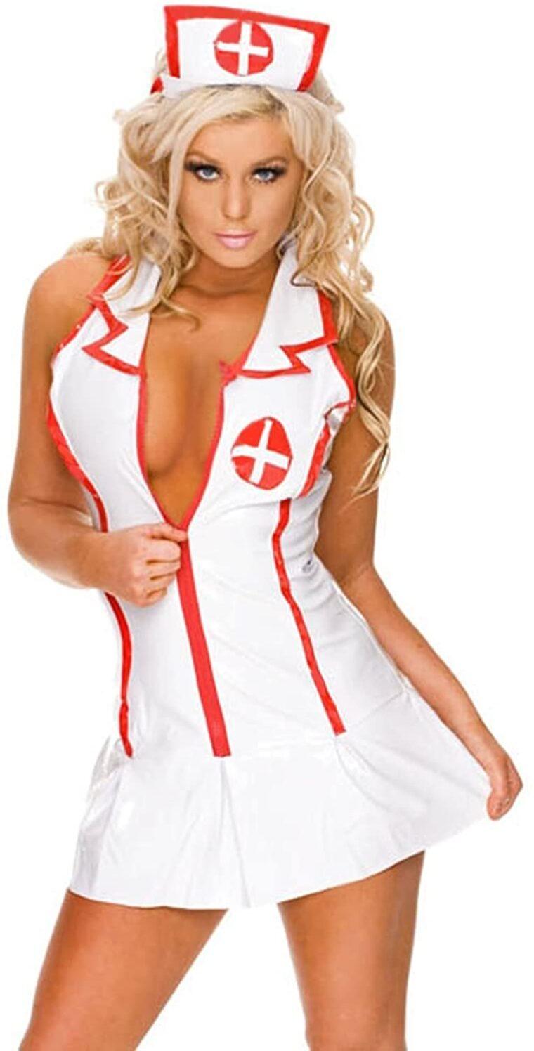 """Эротический игровой костюм """"Медсестра соблазнительница"""" One Size"""