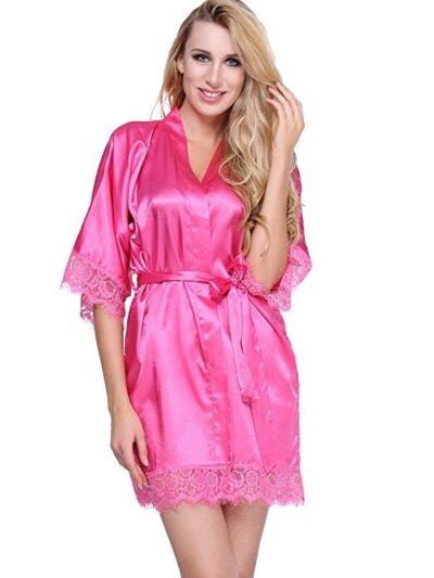 халат розовый 1
