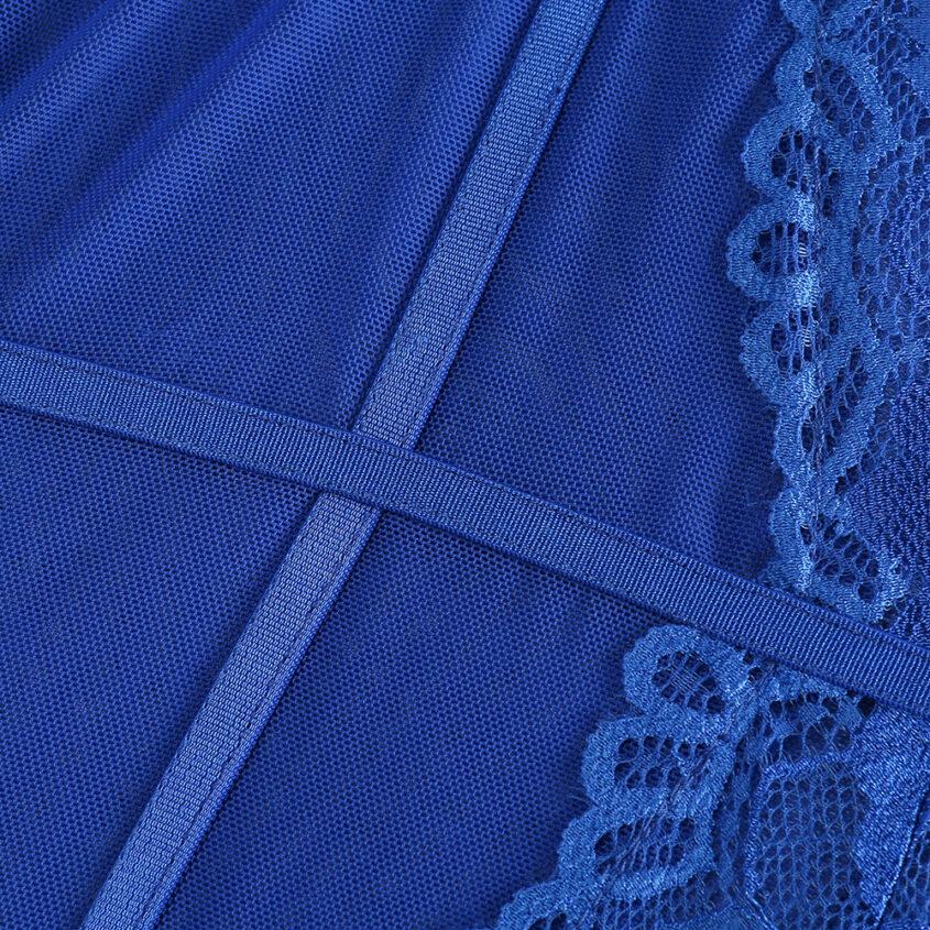 Боді синій мереживо 13