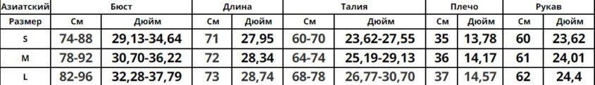 комбидресс гольф - таблица-норм