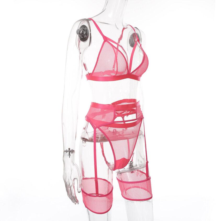 Комплект сітка резинки рожевий 3