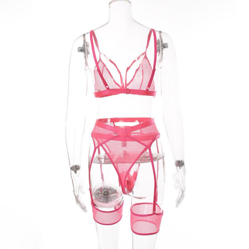 Комплект сітка резинки рожевий 4