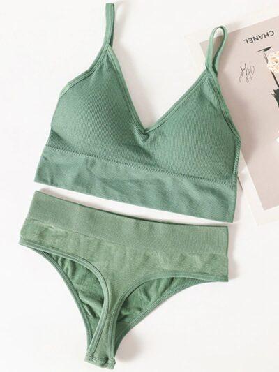 Сексуальный спортивный комплект - зелёный