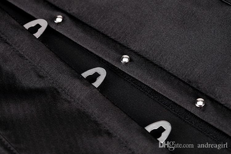 Стильный однотонный короткий  корсет - черный