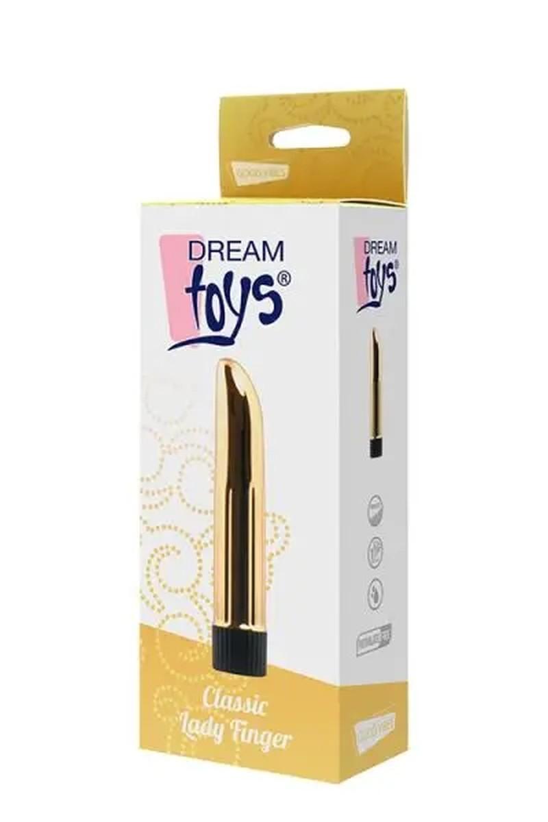 Вибромассажер DREAM TOYS CLASSIC LADY FINGER GOLD 1