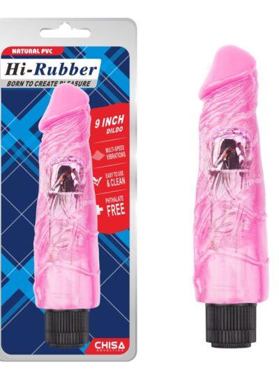 Вибромассажер Hi-Rubber Dildo, Pink